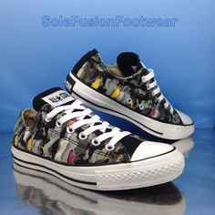 Converse Womens All Star Camo Trainers Black Sz 6 Vtg Tear Away SNEAKERS US  8 39 for sale online  3cd8c6ad6