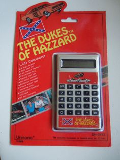 New Vintage Dukes of Hazzard Calculator 1981 by WylieOwlVintage, $15.00