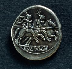 Denarius bearing image of Castor and Pollux (Dioscuri), Roman coins Castor Et Pollux, Son Of Zeus, Greek And Roman Mythology, Gemini, Twin Brothers, Twin Sisters, Ancient Romans, Twins, Copper Coin