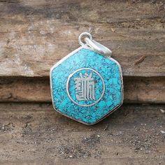 Kalachakra pendant - look4treasures on Etsy