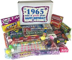 '60s Retro Candy Decade 50th Birthday Gift Box Jr. Nostalgic Candy 1965 Woodstock Candy