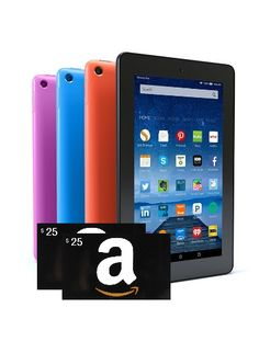 Win a Kindle Fire and/or $25 Amazon Gift Card {ww} Some... sweepstakes IFTTT reddit giveaways freebies contests