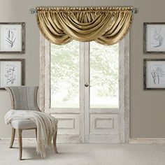 waterfall valance curtains Versailles, Rideaux Design, Waterfall Valance, Window Accessories, Country Curtains, Thing 1, Custom Drapes, Beach Cottage Decor, Interior Decorating
