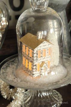 Bougeoir en verre retourn servant de cloche pour une mini - Cloche en plastique transparent jardin ...