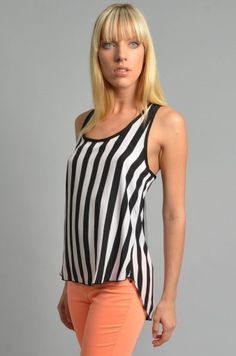 Referee Striped Tank Top - Clothes | Maria Morena Wholesale