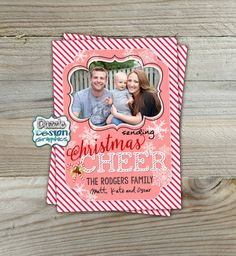 Printable Photo Card: Sending Christmas by DazzleDesignGraphics