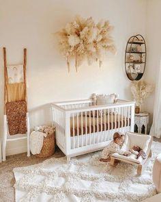 Baby Nursery Decor, Baby Decor, Nursery Room, Project Nursery, Boho Nursery, Vintage Nursery Girl, Apartment Nursery, Babies Nursery, Baby Nursery Neutral