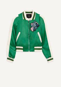 Shopping selection : Blouson en satin bicolore esprit teddy - Collection - Maje.com