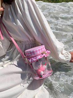 Kawaii Bags, Kawaii Clothes, Harajuku Fashion, Kawaii Fashion, Lolita Fashion, Aesthetic Bags, Aesthetic Clothes, Pink Wallpaper Girly, Clear Handbags