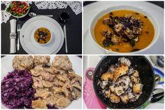 """Am Heiligabend gabs dann ein sehr feines Menü aus Kürbissuppe, Feldsalat, Semmelklöße mit Pilzgeschnetzeltem mit Seitan und bei uns traditionell """"Mohn-Klöße"""" als Nachtisch. Vor allem die Mohnklösse würde ich auch gerne mal versuchen."""