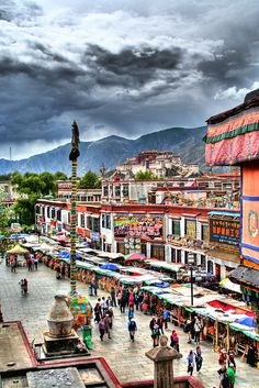 Lhasa landscape - Tibet . Is it possible to go to Tibet from Nepal http://www.beijinglandscapes.com/tibet-tour.html