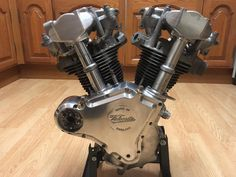 Velocette shaft driven v-twin engine British Motorcycles, Vintage Motorcycles, Cars And Motorcycles, Motor Engine, Motorcycle Engine, Engineering Works, Antique Bicycles, Bike Quotes, Vintage Motocross