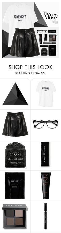 """""""Black and White"""" by genovevajc ❤ liked on Polyvore featuring Givenchy, Nili Lotan, EyeBuyDirect.com, Marc Jacobs, Cleanse by Lauren Napier, NARS Cosmetics, Bobbi Brown Cosmetics and Sephora Collection"""