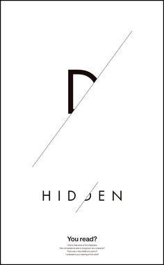 HIDDEN. Typography Inspiration, Typography Design, Branding Design, Graphic Design Tips, Graphic Design Inspiration, Illustration Design Graphique, Abstract Logo, Letter Logo, Logo Design Services