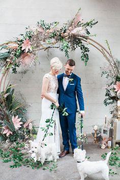 Stylish Tropical Wedding Inspiration in the Pacific Northwest - photo by Katt Willson http://ruffledblog.com/stylish-tropical-wedding-inspiration-in-the-pacific-northwest