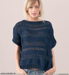 Knitting Stitches, Knitting Patterns Free, Hand Knitting, Crochet Patterns, Poncho Shawl, Mode Boho, Summer Knitting, Knit Vest, Summer Wear