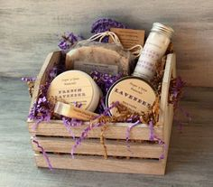 Lavender Soap Spa Bath & Body Gift Basket by SugarNSpiceNaturals