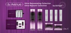 "1st AVENUE cosmetics - ""Ultra Rejuvenating Collection"". Stem Cell & Peptide treatment.  1. Toner - 140ml. Hydrobalance & Repairing. 2. Lotion - 140ml. Restoring & Nourishing. 3. Serum - 10ml x 4. Lifting & Firming.  4. Facial cream - 50ml. Brightening & Anti-aging.  5. Eye cream - 30ml. Brightening & Anti-aging."