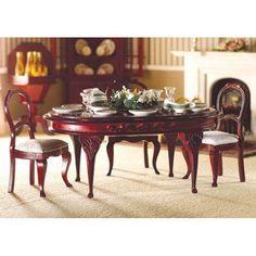 Maison de Poupée-Salle à manger table-Mahaghoni-ovale 1:12