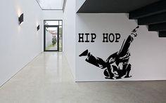 Wall Decal Sticker Bedroom Hip Hop Dance Street dance music teenager kids room 302b