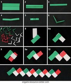 Gum Wrapper Chain--I remember making these out of Juicy Fruit wrappers when I was a little girl. I never thought of just using paper to make it! Diy Origami, Origami Paper, Diy Paper, Paper Art, Oragami, Fun Crafts, Diy And Crafts, Crafts For Kids, Diy Projects To Try