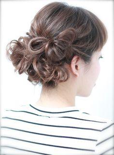 華やかバックスタイル*リボンアレンジ 【BEAUTRIUM GINZA】 http://beautynavi.woman.excite.co.jp/salon/26637?pint ≪ #arrange #hairstyle・アレンジ・ヘアスタイル・髪形・髪型≫