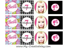 Free Barbie Cupcake Topper Printables {Sweet Friday} Normally, {Sweet Fridays} focus is on cakes, but today I decided to change it up a bi. Paris Birthday Parties, Barbie Birthday Party, Barbie Party, Twin Birthday, It's Your Birthday, 4th Birthday, Birthday Ideas, Barbie Cupcakes, Barbie Cake