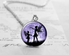 Buy Fairy Tale Moon Necklace, Fairy Moon Pendant Charm, Fairytale Jewelry, Sisters Jewelry, Gift for Her, Best Friend Gift, N084 by petitevanilla. Explore more products on http://petitevanilla.etsy.com