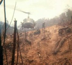 """Photo tag; """"... Air assault into the mountains around Khe Sanh """" photo by Chuck Hackenmiller Company B, 1/7 Cavalry. From the LZ Bravo website ( Photos of Company B, 1/7 Cavalry in Vietnam ) Some outstanding personal photos form George Armstrong Custer's old unit :) :http://www.lzbravo.org/Albums.asp via ~ The NAM (Bob B.)"""