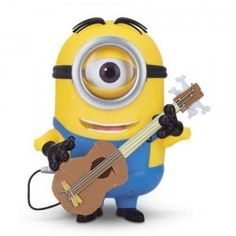 Stuart comes with a miniature guitar that can be strapped onto the Minions for added interactive play.