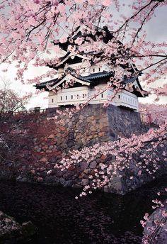 Hirosaki Castle in Spring, Japan by Glen E. Waters