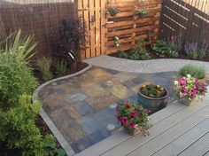 Muddy Boots ideas for patio Pinterest Decking Small gardens
