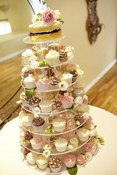 Woodborough Hall Weding Cakes by Heavenly-Cupcakes, via Flickr