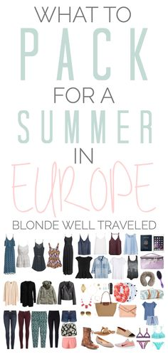 Not sure what to bring to Europe this summer? This ultimate packing list has you covered!