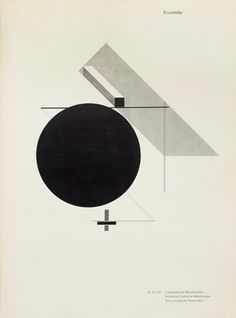 Jan Tschichold, reproduction of an artwork by El Lissitzky 'Proun IV' from 1923. Cover of Typographische Monatsblätter, 1970 issue 12