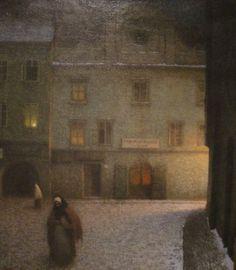 Jakub Schikaneder ( Czech painter) - Evening Street, 1906 The National Gallery in Prague Nocturne, Jakub Schikaneder, Google Art Project, Street Painting, Cityscape Art, Beautiful Paintings, Art Google, Les Oeuvres, Art History