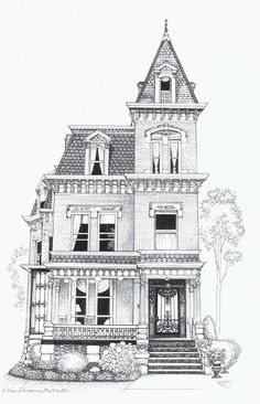2017 Decorators' Show House - Baustil Architecture Drawing Sketchbooks, Architecture Concept Drawings, Architecture Portfolio, Architecture Art, Architecture Diagrams, Building Drawing, Building Sketch, Building Art, Building Illustration
