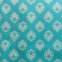 Attractive Regalido Extra Wide Acrylic Oilcloth In Turquoise The Motif Is 2 Cms Wide  To Give You