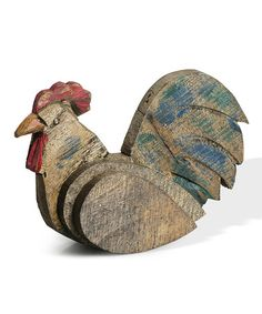 Loving this Barnwood Rooster Sitting Figurine on #zulily! #zulilyfinds