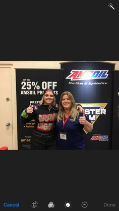 Hanging out with Krysten.  If you need some AMSOIL products give us a call 888-226-7645.