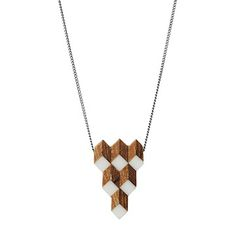 Look what I found at UncommonGoods: Salvaged Furniture Wood Crystalline Necklace for $49.99 #uncommongoods