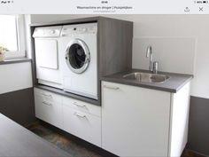 ✔ 65 bathroom design ideas with modern bathup 46 > Fieltro. Garage Laundry Rooms, Laundry Room Layouts, Laundry Room Remodel, Laundry Room Cabinets, Laundry Closet, Laundry Storage, Small Laundry, Laundry Room Design, Family Bathroom