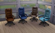 Mod The Sims - Recoloured Boss Executive Desk Chairs