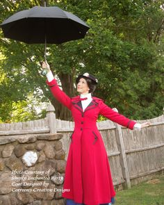 Mary Poppins Inspired Red Costume Coat - Custom Made, Broadway Mary Poppins Costume, Cosplay, Theater Costume Mary Poppins Broadway, Mary Poppins Costume, Halloween Ball, Halloween 2017, Halloween Costumes, Red Costume, Costume Makeup, Nanny Outfit, Theatre Costumes