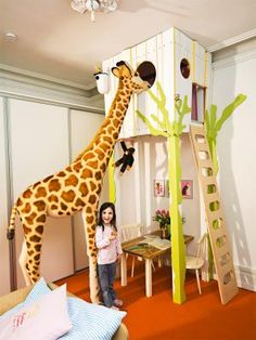 great kids' tree house, easy to DIY SO CUTE! Would be great for a playroom or home classroom!