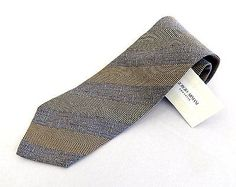 100%Authentic GIORGIO ARMANI 100%Silk Necktie Brown Made In Italy With Tag