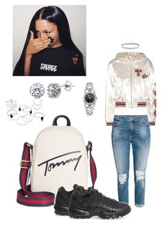 """""""Tommy girl"""" by zeroinspo on Polyvore featuring Tommy Hilfiger, NIKE, BERRICLE and Versus"""