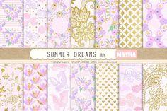 SUMMER DREAMS digital papers by Masha Studio on @creativemarket