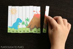 Awesome dinosaur number puzzles!! These are perfect for a dinosaur unit!