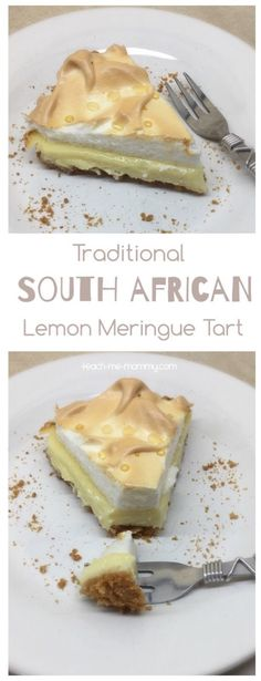 South African Lemon Meringue Tart - Teach Me Mommy South African Lemon Meringue Tart A delicious, traditional South African tart- Lemon Meringue Tart!<br> A delicious, traditional South African tart- Lemon Meringue Tart! Lemon Recipes, Tart Recipes, Baking Recipes, Sweet Recipes, Dessert Recipes, Oven Recipes, Recipies, Curry Recipes, South African Desserts
